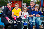 Enjoying their ice creams in the Listowel town park on Saturday, l to r: Laoise, Aideen, Casey and Adam Carey and Brendan Kelliher.