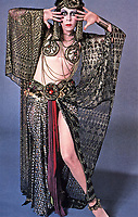 Carol Burnett, actress and comedian in a vamping costume. Photo Dec. 1987.