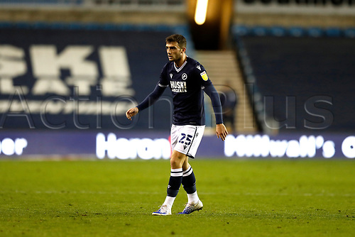 21st November 2020; The Den, Bermondsey, London, England; English Championship Football, Millwall Football Club versus Cardiff City; Troy Parrott of Millwall