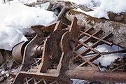 Possibly the remnants of the William Allen sawmill along the Swift River in the area known as Passaconaway in Albany, New Hampshire. This a Eureka Lath Machine, Manufactured by C.S. Baker & Co - Manchester N.H. Pat'd Jan 18, 1870.