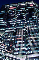 Canada, Ontario, Toronto, office tower illuminated at night