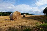 Europa, DEU, Deutschland, Rheinland-Pfalz, Hunsrueck, Rayerschied, Sommerliche Agrarlandschaft nach der Getreideernte, Strohballen, Natur, Umwelt, Landschaft, Landschaftsfotos, Landschaftsfotografie, Landschaftsfoto, Wetter, Wetterelemente, Wetterlage, Wetterkunde, Witterung, Witterungsbedingungen, Wettererscheinungen, Meteorologie, Wettervorhersage, Rayerschied ist eine Ortsgemeinde im Rhein-Hunsrueck-Kreis in Rheinland-Pfalz. Sie gehoert der Verbandsgemeinde Simmern-Rheinboellen an.<br /> <br /> [Fuer die Nutzung gelten die jeweils gueltigen Allgemeinen Liefer-und Geschaeftsbedingungen. Nutzung nur gegen Verwendungsmeldung und Nachweis. Download der AGB unter http://www.image-box.com oder werden auf Anfrage zugesendet. Freigabe ist vorher erforderlich. Jede Nutzung des Fotos ist honorarpflichtig gemaess derzeit gueltiger MFM Liste - Kontakt, Uwe Schmid-Fotografie, Duisburg, Tel. (+49).2065.677997, ..archiv@image-box.com, www.image-box.com]