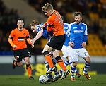 St Johnstone v Dundee United.....01.04.13      SPL.Liam Craig is tackled by Stuart Armstrong.Picture by Graeme Hart..Copyright Perthshire Picture Agency.Tel: 01738 623350  Mobile: 07990 594431