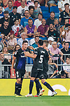 Guido Marcelo Carrillo of CD Leganes celebrates with teammates during the La Liga 2018-19 match between Real Madrid and CD Leganes at Estadio Santiago Bernabeu on September 01 2018 in Madrid, Spain. Photo by Diego Souto / Power Sport Images