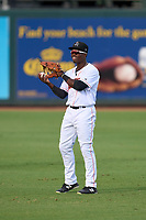 Jupiter Hammerheads outfielder Ashton Easley (23) during warmups before a game against the Palm Beach Cardinals on May 11, 2021 at Roger Dean Chevrolet Stadium in Jupiter, Florida.  (Mike Janes/Four Seam Images)