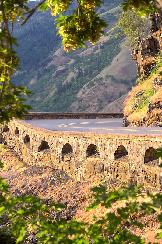 Close up of historic highway. Columbia River Gorge National Scenic Area, Oregon