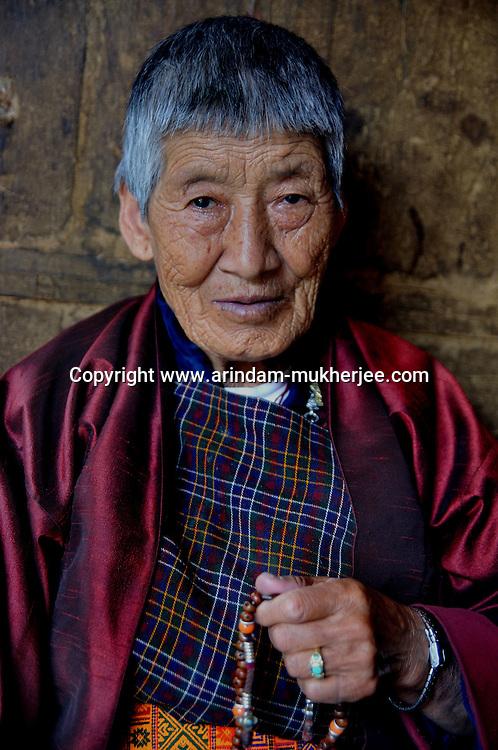 An old Bhutanese lady in Thimpu. Arindam Mukherjee..