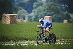 Imanol Erviti Ollo (ESP) Movistar Team in action during Stage 5 of the 2021 Tour de France, an individual time trial running 27.2km from Change to Laval, France. 30th June 2021.  <br /> Picture: A.S.O./Pauline Ballet | Cyclefile<br /> <br /> All photos usage must carry mandatory copyright credit (© Cyclefile | A.S.O./Pauline Ballet)