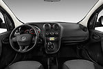 Stock photo of straight dashboard view of 2017 Mercedes Benz Citan Perfect-Tool 5 Door Cargo Van Dashboard