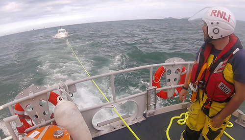 Towed to safety - Weather conditions at the time gave good visibility but there was a 2 to 3 metre swell
