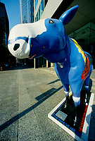 Toronto (ON) CANADA October 2001 - File Photo - .Moose sculpture, shot with a 14mm wide-angle lense....photo by Pierre Roussel - Images Distribution