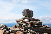 The summit of North Baldface Mountain during the summer months. Located in the White Mountains, New Hampshire USA.