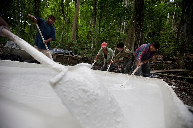 "Workers at El Mirador archeological site using cal to rebuild ""La Danta"""