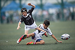 A children's exhibition match between Island U12 and Peninsula U12 teams as part of the GFI HKFC Rugby Tens 2017 on 06 April 2017 in Hong Kong Football Club, Hong Kong, China. Photo by Juan Manuel Serrano / Power Sport Images
