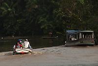 Orla de Belém na baia do Guajará e igarapés da Ilha das Onças em frente a cidade<br /> Belém, Pará, Brasil.<br /> Foto Paulo Santos