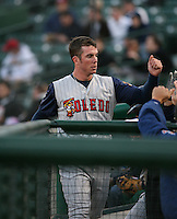 2007:  Brent Clevlen of the Toledo Mudhens gets high fives after scoring a run vs. the Rochester Red Wings in International League baseball action.  Photo By Mike Janes/Four Seam Images