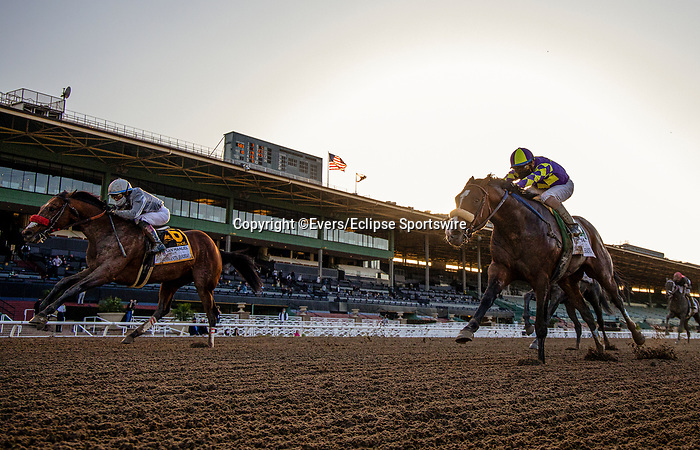 March 06, 2021: Idol and Joel Rosario defeats Express Train and Juan Hernandez to win the Santa Anita Handicap at Santa Anita Park in Arcadia, California on March 06, 2021. Evers/Eclipse Sportswire/CSM