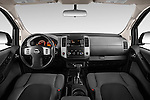 Stock photo of straight dashboard view of2014 Nissan Xterra S 5 Door Suv Dashboard