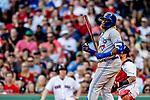 22 June 2019: Toronto Blue Jays third baseman Vladimir Guerrero Jr. at bat against the Boston Red Sox at Fenway :Park in Boston, MA. The Blue Jays rallied to defeat the Red Sox 8-7 in the 2nd game of their 3-game series. Mandatory Credit: Ed Wolfstein Photo *** RAW (NEF) Image File Available ***