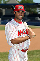 June 30th, 2007:  Antonio DeJesus of the Batavia Muckdogs, Short-Season Class-A affiliate of the St. Louis Cardinals at Dwyer Stadium in Batavia, NY.  Photo by:  Mike Janes/Four Seam Images