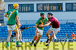 Seanie Nolan, Kilmoyley in action against Tommy Casey, Causeway during the Kerry County Senior Hurling Championship Final match between Kilmoyley and Causeway at Austin Stack Park in Tralee