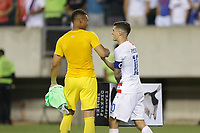 PHILADELPHIA, PENNSYLVANIA - JUNE 30: Zack Steffen #1, Christian Pulisic #10 during the 2019 CONCACAF Gold Cup quarterfinal match between the United States and Curacao at Lincoln Financial Field on June 30, 2019 in Philadelphia, Pennsylvania.