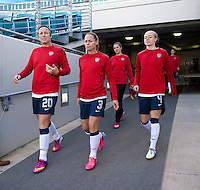 Abby Wambach, Christie Rampone, Carli Lloyd, Becky Sauerbrunn.  The USWNT defeated Scotland, 4-1, during a friendly at EverBank Field in Jacksonville, Florida.