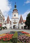 Austria, Lower Austria, UNESCO World Heritage Wachau, Krems: Steinertor - medieval town gate with two gotic, round towers