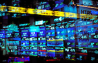 USA, New York, New York City. NASDAQ reader board..NO PROPERTY RELEASE