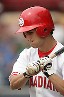 July 11 2009: Conner Crumbliss of the Vancouver Canadians during game against the Boise Hawks at Nat Bailey Stadium in Vancouver,BC..Photo by Larry Goren/Four Seam Images