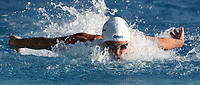 Swimming 55° Settecolli trophy Foro Italico, Rome on June 30, June 2018.<br /> Swimmer Sarah Sjoestroem, of Sweden, competes in the women's 100 meters Butterfly at the Settecolli swimming trophy in Rome, on June 30, 2018.<br /> UPDATE IMAGES PRESS/Isabella Bonotto
