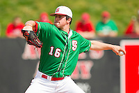 North Carolina State Wolfpack starting pitcher Carlos Rodon #16 in action against the Wake Forest Demon Deacons at Doak Field at Dail Park on March 17, 2012 in Raleigh, North Carolina.  The Wolfpack defeated the Demon Deacons 6-2.  (Brian Westerholt/Four Seam Images)