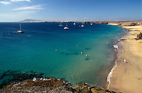 Spanien, Kanarische Inseln, Lanzarote, Playas de Papagayo
