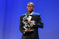 Abraham Attah attends the closing ceremony during the 72nd Venice Film Festival at the Palazzo Del Cinema in Venice, Italy, September 12, 2015.<br /> UPDATE IMAGES PRESS/Stephen Richie