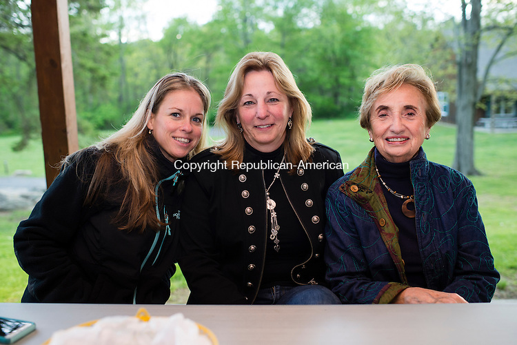WATERTOWN, CT- 20 May 2016-052016EC17-  Social Moments. L to R: Marcy Synnott, Susan Turmel and Norma Kaminski attend the Greater Waterbury Campership Fund's annual fundraiser Thursday night. The event was at the Greater Waterbury YMCA's Camp Mataucha in Watertown. All money raised goes directly to the cost of sending children to camp. Erin Covey Republican-American Erin Covey Republican-American