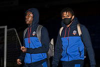 Bolton Wanderers' Liam Gordon (left) and Jamie Mascoll arriving at the stadium <br /> <br /> Photographer Andrew Kearns/CameraSport<br /> <br /> EFL Papa John's Trophy - Northern Section - Group C - Bolton Wanderers v Newcastle United U21 - Tuesday 17th November 2020 - University of Bolton Stadium - Bolton<br />  <br /> World Copyright © 2020 CameraSport. All rights reserved. 43 Linden Ave. Countesthorpe. Leicester. England. LE8 5PG - Tel: +44 (0) 116 277 4147 - admin@camerasport.com - www.camerasport.com
