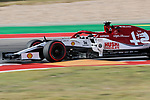 Alfa Romeo Racing driver Kimi Räikkönen (7) of Finland in action during the Formula 1 Emirates United States Grand Prix practice session held at the Circuit of the Americas racetrack in Austin,Texas.