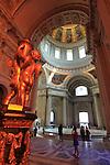 The interior view of Dome Church. Hotel les Invalides. Paris. city of Paris. France