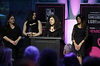 La famille accepte l'Hommage<br />  a Evelyne Farrah, au Gala Phenicia 2018<br /> , le 31 mai 2018,a la Caisse de Depot et PLacements du Quebec.<br /> <br /> PHOTO : Agence Quebec Presse