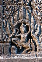 Cambodia, Bayon Temple.  Apsara Dancing.