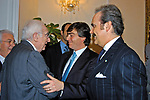 FRANCESCO COSSIGA CON VALTER LAVITOLA E MAURO MASI<br /> PALAZZO ROMA  - ROMA 2003
