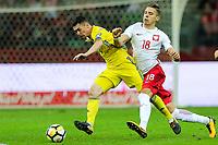 04.09.2017, Warszawa, pilka nozna, kwalifikacje do Mistrzostw Swiata 2018, Polska - Kazachstan, Jan Bednarek (POL), Aslan Barabaev (KAZ), Poland - Kazakhstan, World Cup 2018 qualifier, football, fot. Tomasz Jastrzebowski / Foto Olimpik<br /><br />POLAND OUT !!! *** Local Caption *** +++ POL out!! +++<br /> Contact: +49-40-22 63 02 60 , info@pixathlon.de