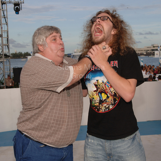 MIAMI - AUGUST 28: Don Vito arrives at the 2005 MTV Video Music Awards at the American Airlines Arena. Vincent Roy Margera, more commonly known as Don Vito, was an American reality television personality known for his appearances in Viva La Bam, Jackass, Haggard and the CKY videos alongside his nephew Bam on August 28, 2005 in Miami, Florida <br /> <br /> <br /> People:  Don Vito, Vincent Margera