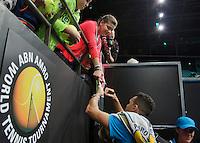 10-02-14, Netherlands,Rotterdam,Ahoy, ABNAMROWTT,, , Jo-Wilfried Tsonga(FRA)<br /> Photo:Tennisimages/Henk Koster