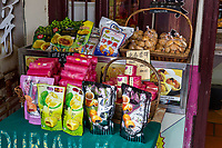 Durian-flavored and other Chinese Snacks for sale, Melaka, Malaysia.