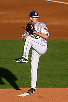 Wisconsin Timber Rattlers pitcher Justin Jarvis (11) on the mound during a Midwest League game against the Clinton LumberKings on June 20, 2019 at Fox Cities Stadium in Appleton, Wisconsin. Wisconsin defeated Clinton 5-2. (Brad Krause/Four Seam Images)