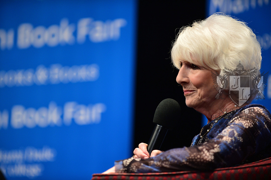 "MIAMI, FL - FEBRUARY 06: Radio host/author Diane Rehm in conversation with Dr. Cristina Pozo-Kaderman about Diane Rehm's new book ""When My Time Comes"" Presented in collaboration with Miami Book Fair and Books and Books at Miami Dade College-Wolfson Auditorium on February 6, 2020 in Miami, Florida.   ( Photo by Johnny Louis / jlnphotography.com )"