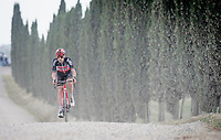 """Harm Vanhoucke (BEL/Lotto Soudal) over the final gravel sector of the day.<br /> <br /> 104th Giro d'Italia 2021 (2.UWT)<br /> Stage 11 from Perugia to Montalcino (162km)<br /> """"the Strade Bianche stage""""<br /> <br /> ©kramon"""