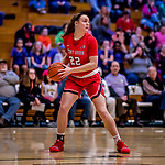 26 January 2019: Stony Brook Seawolves Forward McKenzie Bushee, a Sophomore from Pittsburgh, PA, in action against the University of Vermont Catamounts at Patrick Gymnasium in Burlington, Vermont. The Lady Seawolves defeated the Lady Catamounts 67-61 in America East Women's Basketball. Mandatory Credit: Ed Wolfstein Photo *** RAW (NEF) Image File Available ***