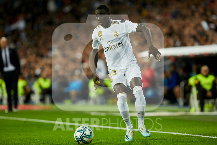 Ferland Mendy of Real Madrid during La Liga match between Real Madrid and Real Betis Balompie at Santiago Bernabeu Stadium in Madrid, Spain. November 02, 2019. (ALTERPHOTOS/A. Perez Meca)